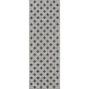 Umbria Grey 2 ft. 7 in. x 7 ft. 6 in. Indoor/Outdoor Runner
