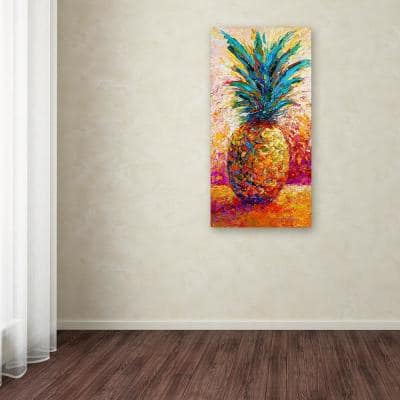 """47 in. x 24 in. """"Pineapple Expression"""" by Marion Rose Printed Canvas Wall Art"""