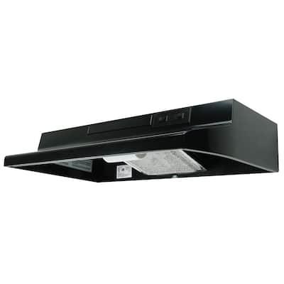 AV Series 42 in. Under Cabinet Convertible Range Hood with Light in Black