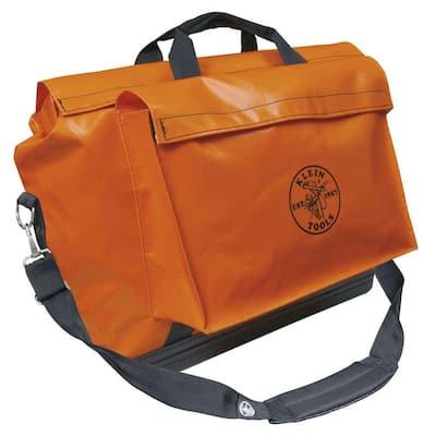 Tool Bag, Vinyl Equipment Bag, Orange, Large