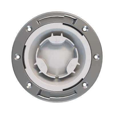 Fast Set 4 in. PVC Hub Toilet Flange with Test Cap and Stainless Steel Ring