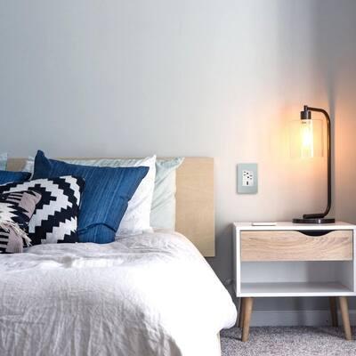 adorne 1 Gang Plus Decorator/Rocker Wall Plate, Pale Blue (1-Pack)
