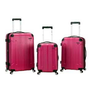 London 3-Piece Hardside Spinner Luggage Set, Magenta