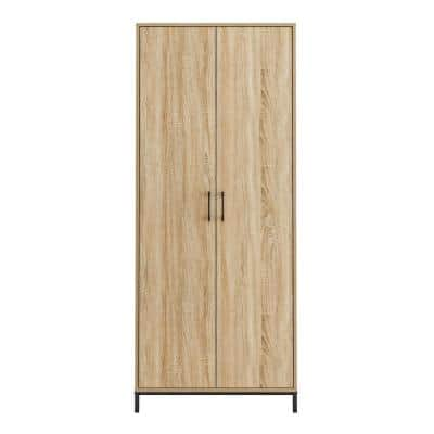 North Avenue Charter Oak Accent Cabinet with Metal Base