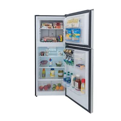10.1 cu. ft. Top Freezer Refrigerator in Platinum Steel