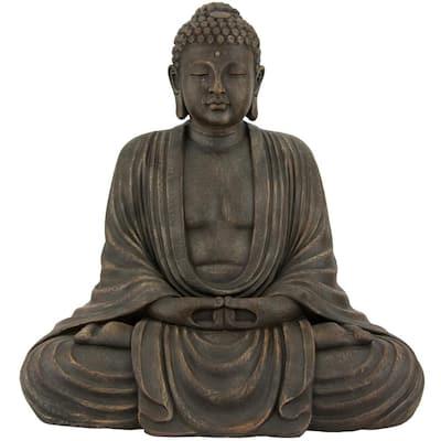 2.5 ft. Tall Japanese Sitting Buddha Decorative Statue