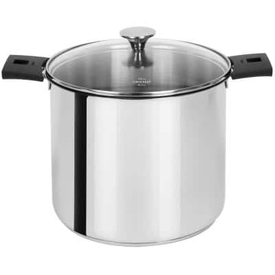Tulipe 7.5 qt. Stainless Steel Stock Pot with Glass Lid