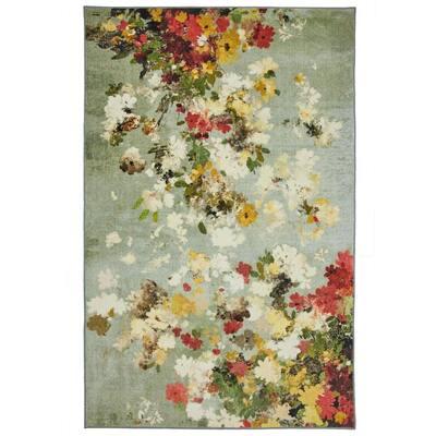 Merging Floral Multi 8 ft. x 10 ft. Floral Area Rug