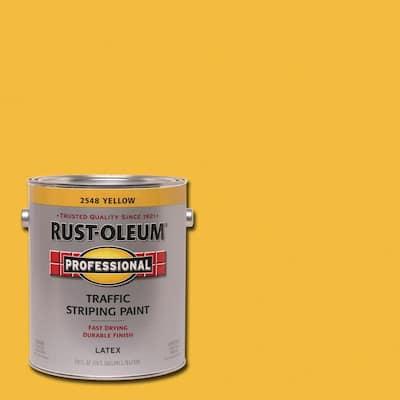1 gal. Flat Yellow Exterior Traffic Striping Paint