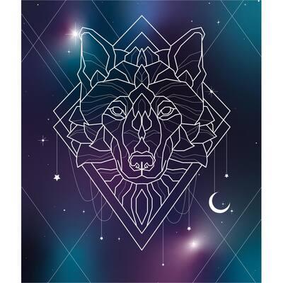 Wolf Stars - 88 in. x 104 in. Tapestry