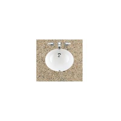 26 in. W Granite Single Basin Vanity Top in Santa Cecilia