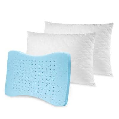 Memory Plus Cooling Hypoallergenic Down Alternative Standard Pillow (Set of 2)