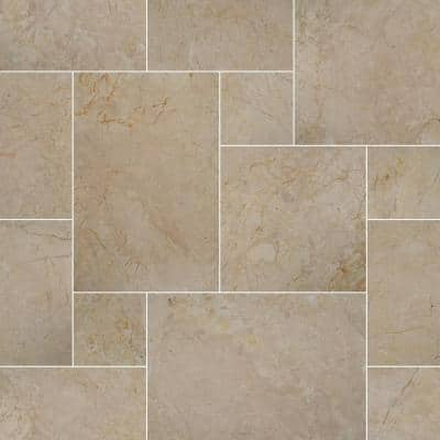 Aegean Pearl Pattern Tumbled Marble Paver Kit (120 pieces/160 Sq. ft./Pallet)