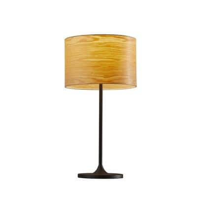Oslo 22.5 in. Black Table Lamp