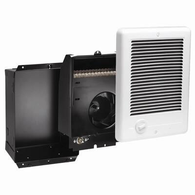 Com-Pak 1,000-Watt 240-Volt Fan-Forced In-Wall Electric Heater in White