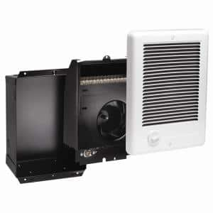 Com-Pak 1,500-Watt 240-Volt Fan-Forced In-Wall Electric Heater in White