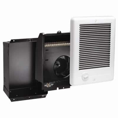 Com-Pak 2,000-Watt 240-Volt Fan-Forced In-Wall Electric Heater in White