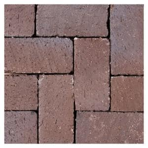 Mission Tumbled 8 in. x 4 in. x 2.25 in. Clay Brown Flash Paver