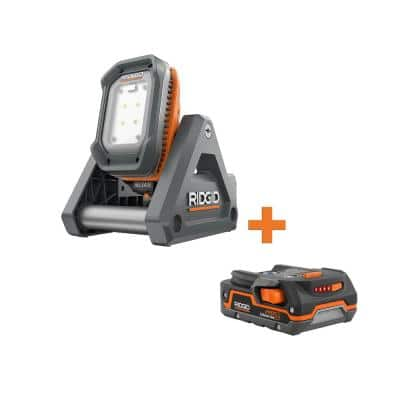18-Volt Cordless Flood Light with Detachable Light with 1.5 Ah Lithium-Ion Battery