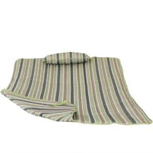 Khaki Stripe Pad and Pillow