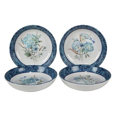 24 oz. 9 in. Bohemian Blue Multicolor Soup Bowl (Set of 4)