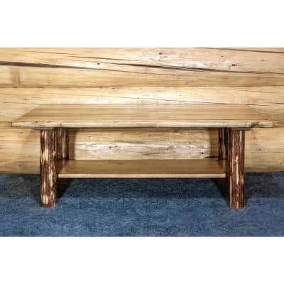 Glacier Country 48 in. Puritan Pine Large Rectangle Wood Coffee Table with Storage