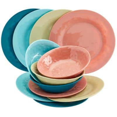 Melamine Dinnerware Sets Dinnerware The Home Depot