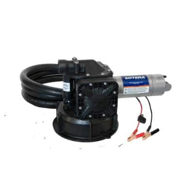 12-Volt 15 GPM 1/4 HP Agricultural Chemical Transfer Utility Pump Package (Mix and Go)