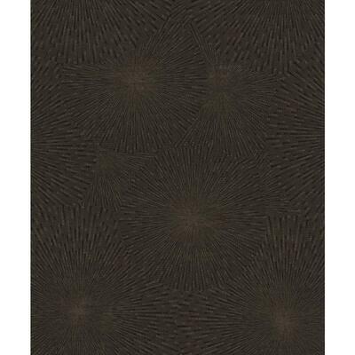 Zion Black Starburst Black Wallpaper Sample