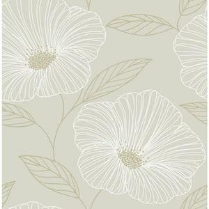 Dove Floweret Dove Wallpaper Sample