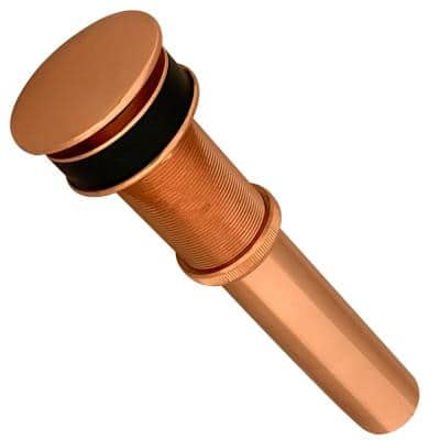 1.5 in. Non-Overflow Pop-Up Bathroom Sink Drain, Polished Copper