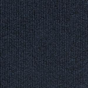 Navy Fabric Non-Pasted Moisture Resistant Wallpaper Roll (Covers 108 Sq. Ft.)