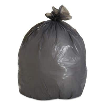 30 in. x 36 in. 30 Gal. 0.95 mil Gray Low-Density Trash Can Liners (25-Bags/Roll, 4-Rolls/Carton)
