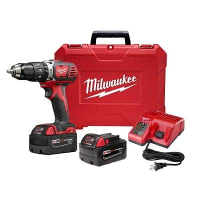M18 18-Volt Lithium-Ion Cordless 1/2 in. Hammer Drill Driver Kit w/(2) 3.0Ah Batteries, Charger & Hard Case