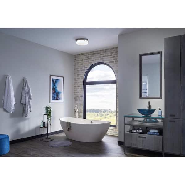 Broan Nutone 110 Cfm Decorative Brushed, Brushed Nickel Bathroom Exhaust Fan