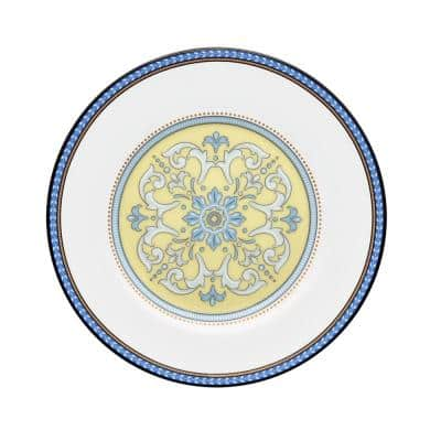 Menorca Palace Blue/Yellow White Bone China Bread and Butter/Appetizer Plate 6-1/2 in.