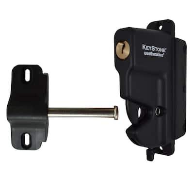 Keystone Black Nylon Polymer 1-Sided Key-Lockable Gate Latch