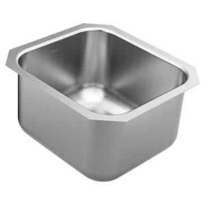 1800 Series Stainless Steel 16.5 Single Bowl Undermount Kitchen Sink with 10 in. Depth