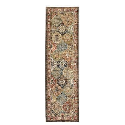 Patchwork Multi 2 ft. x 7 ft. Medallion Runner Rug
