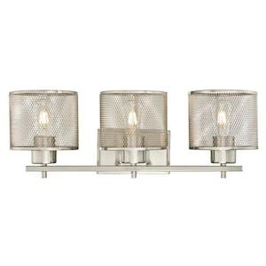 Morrison 3-Light Brushed Nickel Wall Mount Bath Light