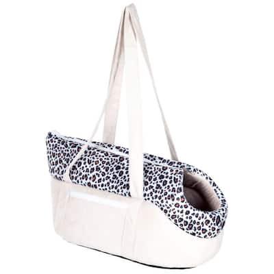 Tan/Leopard Cozy Cat Travel Pet Carrier