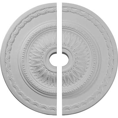 29-1/2 in. x 3-5/8 in. x 1-5/8 in. Sunflower Urethane Ceiling Medallion, 2-Piece (Fits Canopies up to 5 5/8 in.)