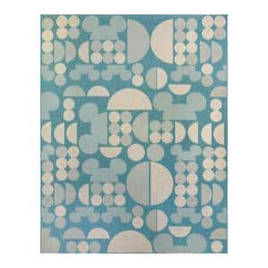Mickey Mouse Spheres Oasis 6 ft. x 9 ft. Abstract Indoor/Outdoor Area Rug