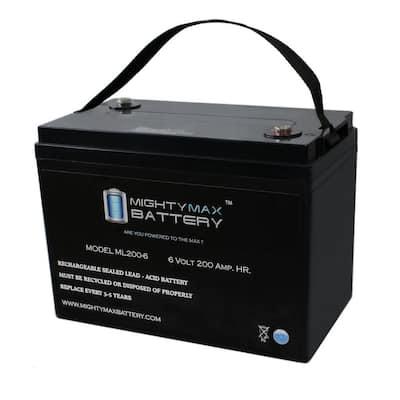 6-Volt 200 Ah Rechargeable Sealed Lead Acid (SLA) Battery