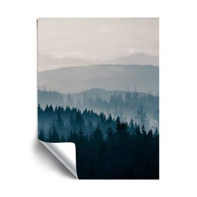 """""""Blue Mountains II"""" Landscapes Removable Wall Mural"""