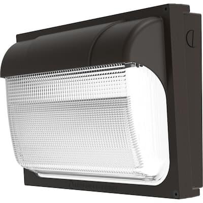 Contractor Select TWX2 250-Watt Equivalent Integrated LED Dark Bronze Wall Pack Light, Adjustable Lumen Output 4000K