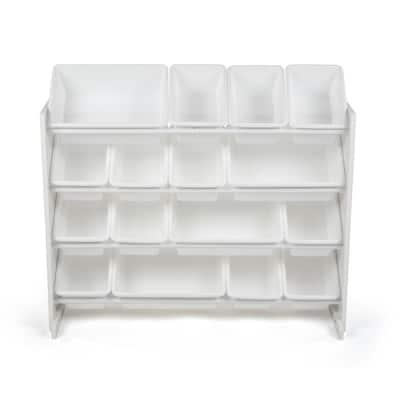 Cambridge White/White Super-Sized Toy Organizer with 16-Bins