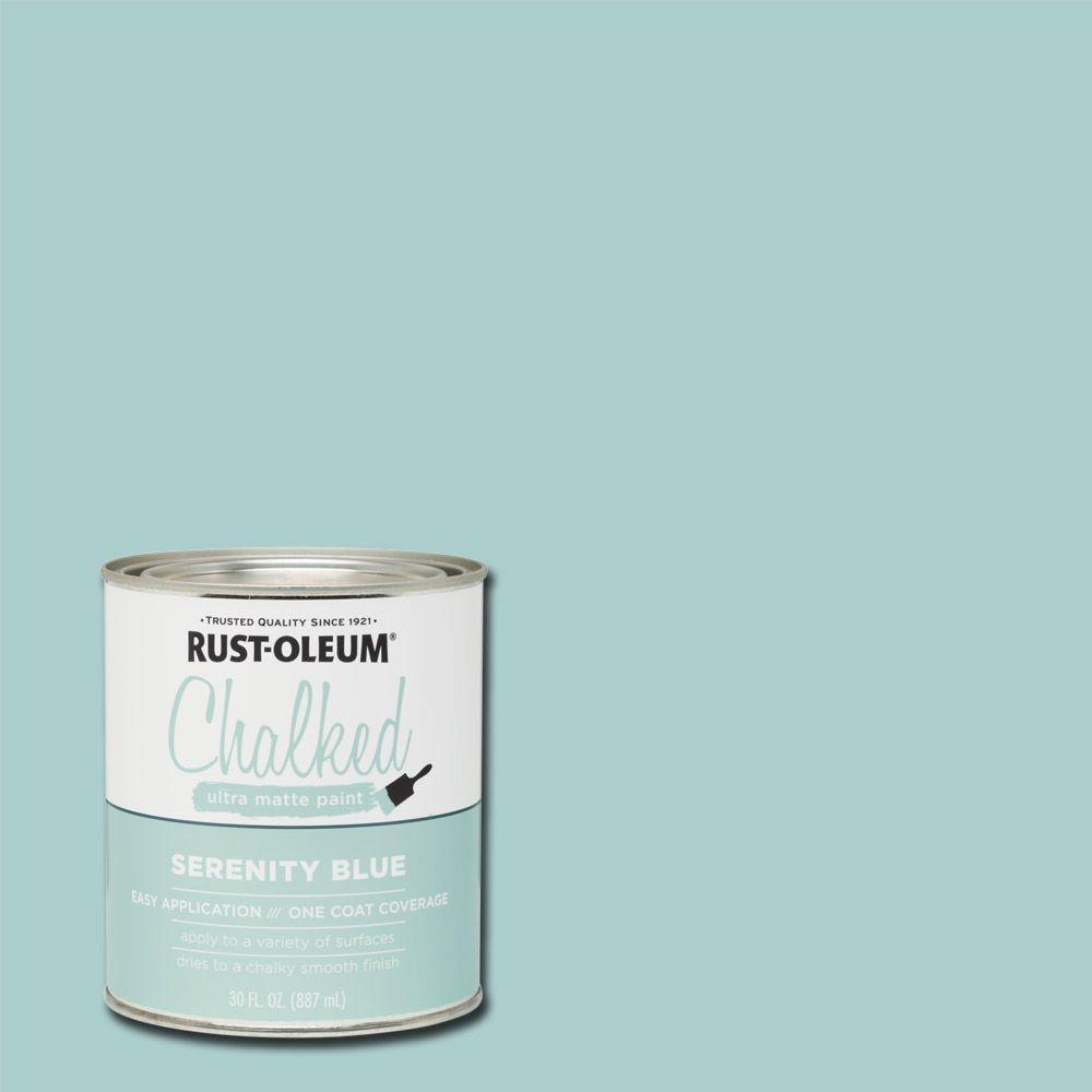 30 oz. Chalked Serenity Blue Ultra Matte Interior Paint