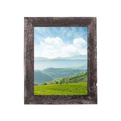 Rustic Farmhouse 24 in. x 36 in. Smoky Black Reclaimed Picture Frame (1.5 in. Molding)