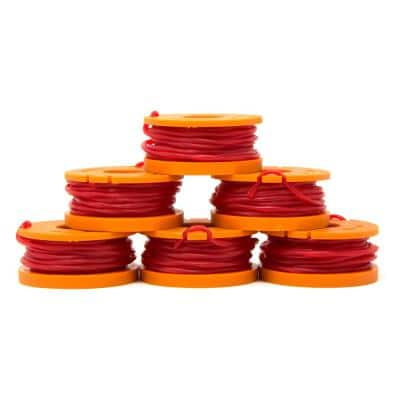 String Trimmer Replacement Spool with 9.5 Feet of .065 Line, Six-Pack